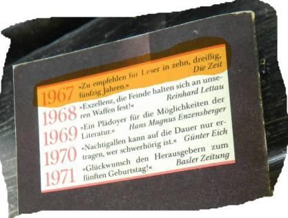 Bis 76 wurden sie neu aufgelegt im Jahr 1981. Sofort gekauft damals.
