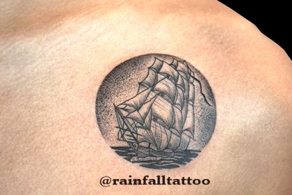 タトゥー ドット 帆船
