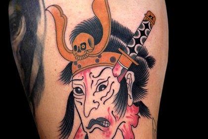 タトゥー 和彫り 生首 武将