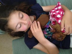 The_girls_made_puppy_blankets_for_the_babies