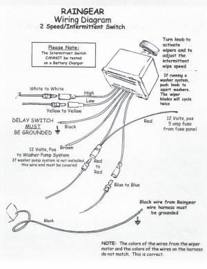 Wiring Diagram  RainGear Wiper Systems