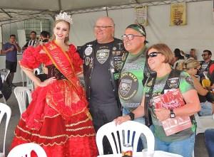 Rainha das Roasa no Encontro Nacional de Motociclistas - Fev.2019