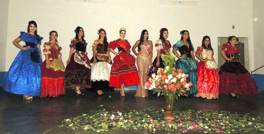 Canditadas, Rainha das Rosas e Miss S. J. Del Rei.