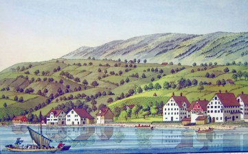 Richterswil, ZH -- etching by Heinrich Brupbacher (1758-1835)
