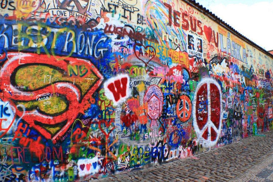布拉格約翰藍儂牆 John Lennon Wall 民主、愛與和平的力量