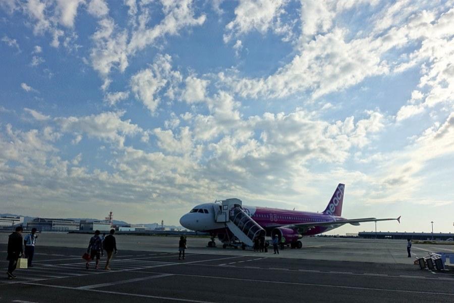 樂桃航空 Peach Aviation   MM22 台北TPE→大阪KIX 票價行李、飛行紀錄