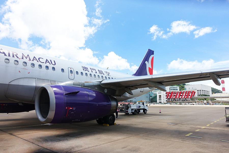 澳門航空 Air Macau | NX 601 台北TPE⇒澳門MFM 飛行紀錄、網路SIM卡、機場酒店接駁