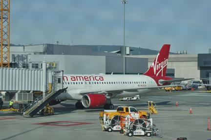 阿拉斯加航空 Alaska Airlines | AS1946 舊金山SFO⇒洛杉磯LAX 自助報到機 行李購買 維珍美國飛行紀錄
