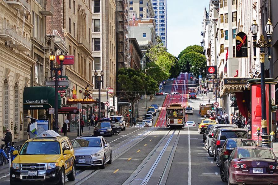 舊金山聯合廣場住宿 Kimpton Sir Francis Drake Hotel 金普頓酒店,最熱鬧的 Powell Street