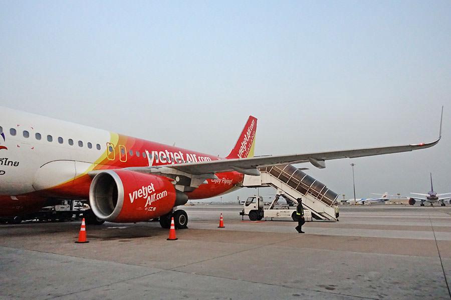 泰越捷航空 Thai Vietjet Air | VZ561 台中RMQ ⇒ 曼谷BKK,直飛航班、行李、選位、餐點分享!!