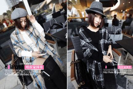 淘寶購物 | 珊瑚絨格紋圍巾兩色簡短分享