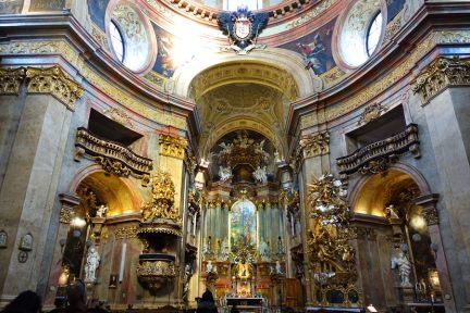 【維也納 Vienna】聖彼得教堂 St. Peterskirche Wien 金碧輝煌的巴洛克式小教堂