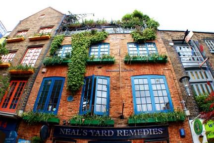 倫敦 London   尼爾氏香芬庭園創始店 Neal's Yard - 柯芬園裡的五彩巷弄<3