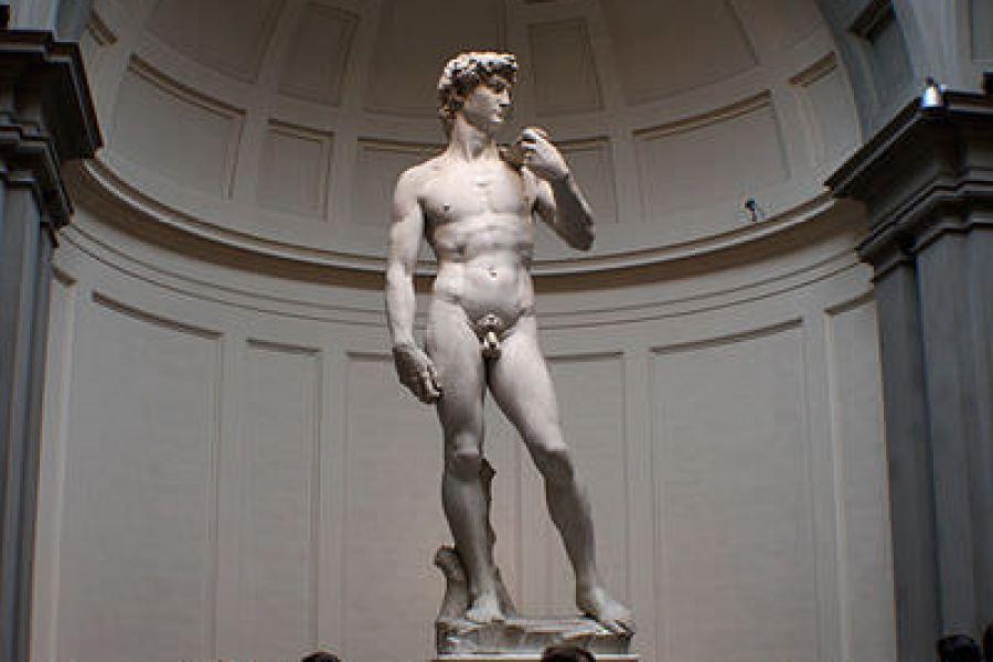 佛羅倫斯學院美術館 La Galleria dell'Accademia a Firenze 米開朗基羅大衛像真跡