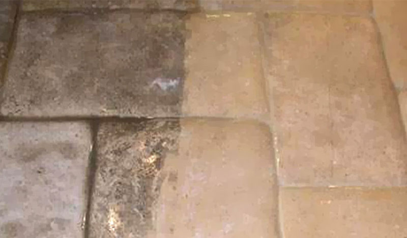 Recently Cleaned Stone Tile Floor - Tacoma