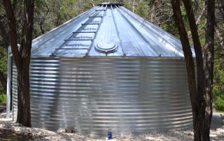 complete steel tank install
