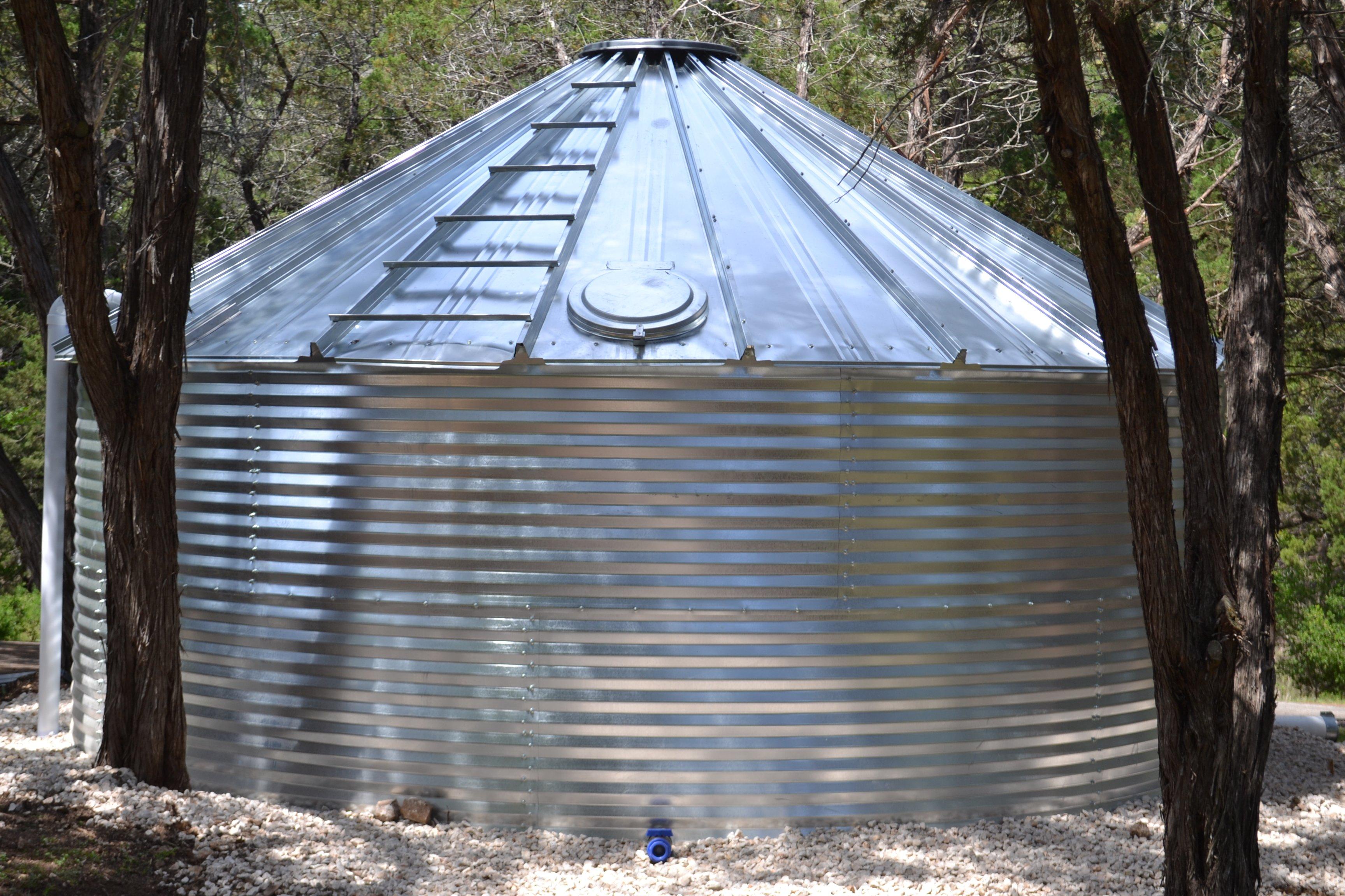 complete steel tank install