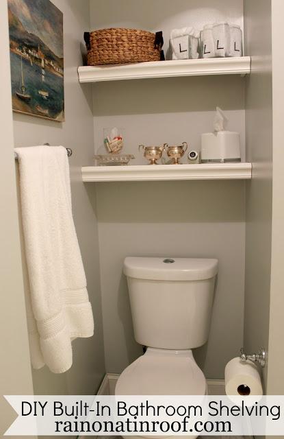 DIY Bathroom Shelving - Budget Bathroom Makeover