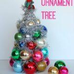 DIY Vintage Ball Ornament Tree