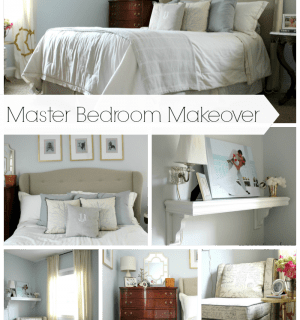 Master Bedroom Makeover {rainonatinroof.com} #masterbedroom #makeover