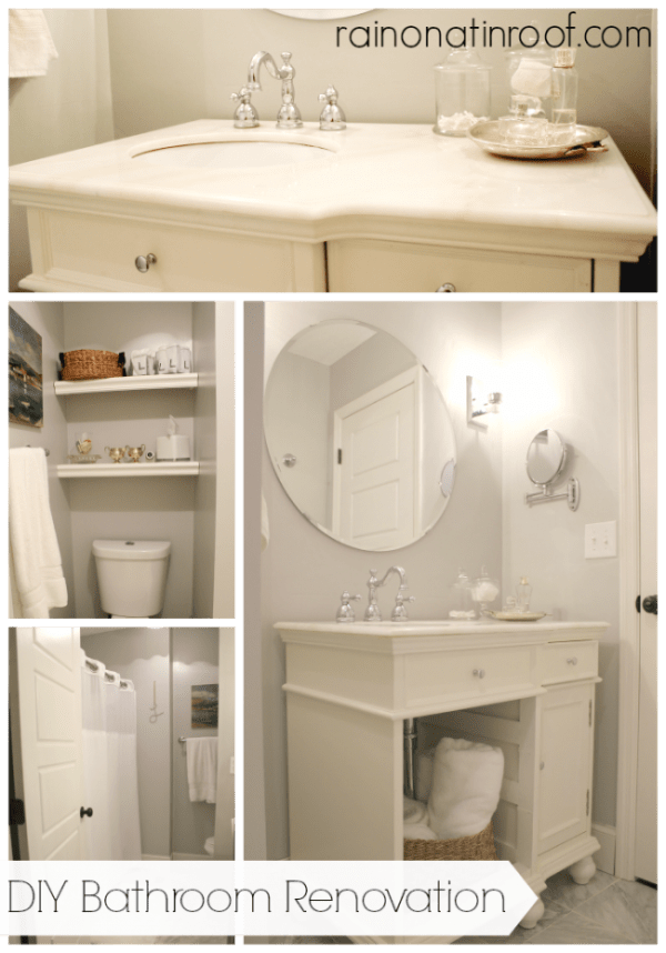 DIY Bathroom Renovation {rainonatinroof.com} #bathroom #renovation #makeover #diy