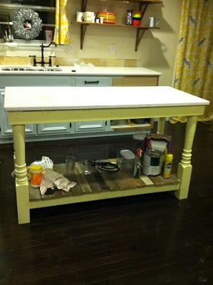 Kitchen Makeover - DIY Island