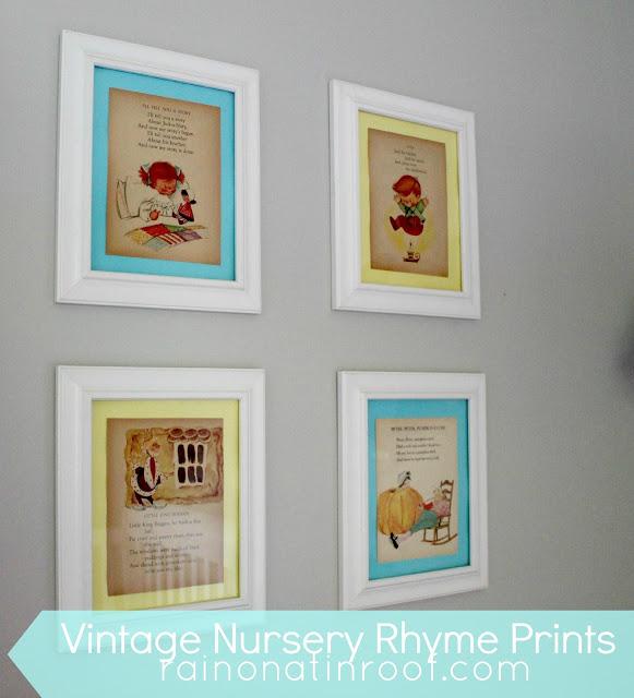 Vintage Nursery Rhymes Framed