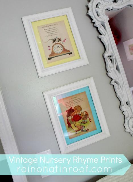 Vintage Nursery Rhyme Prints for Nursery Decor