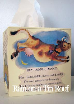 Vintage Nursery Rhyme Tissue Box Holder