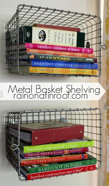 Metal Basket Shelving from Vintage Locker Baskets