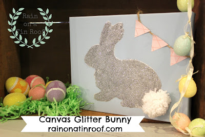 Easy Glitter Bunny Easter Craft