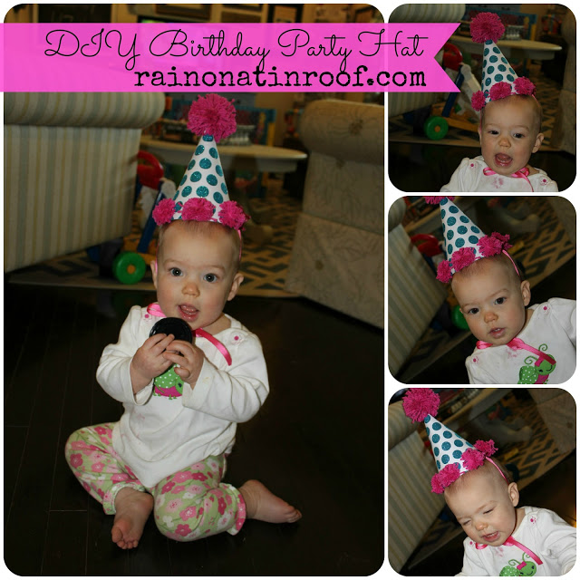 First Birthday Hat - Rain on a Tin Roof