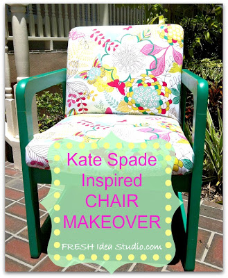 Kate Spade Inspired Chair Makeover