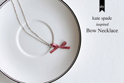 Kate Spade Inspired DIY Bow Necklace