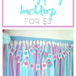 DIY Party Backdrop / DIY Party Background / DIY Party Decorations