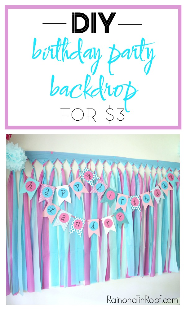 DIY Party Backdrop with Plastic Tablecloths | DIY Party Background | DIY Party Decorations | DIY Party Decor | Party Backdrop DIY Ideas