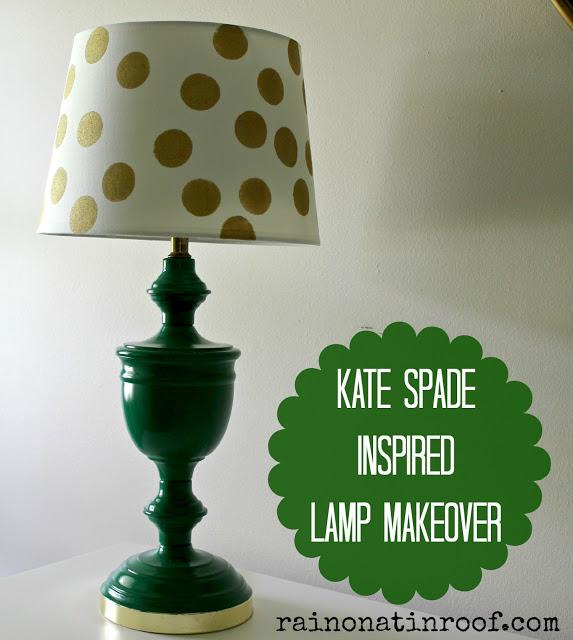 Kate Spade Inspired Lamp Makeover