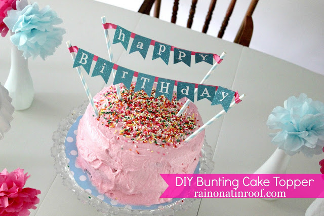 Incredible Make This Easy Cake Banner Topper For Your Next Party Birthday Cards Printable Opercafe Filternl