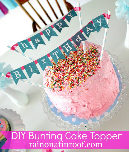 Astonishing Make This Easy Cake Banner Topper For Your Next Party Funny Birthday Cards Online Elaedamsfinfo