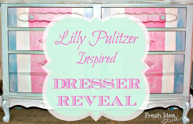 Lilly Pulitzer Inspired Dresser Makeover