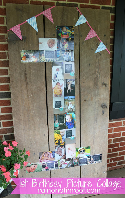 Birthday Number Photo Collage