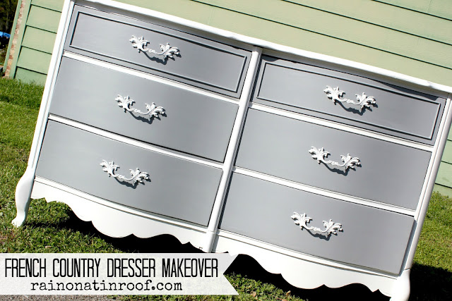 French Country Dresser Painted with DIY Chalk Paint