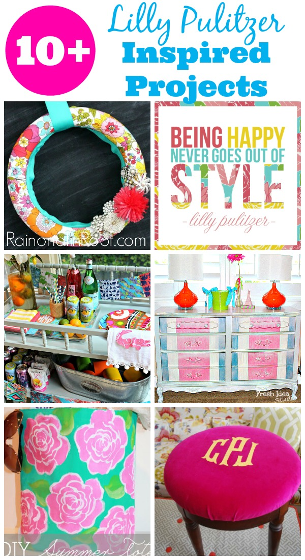 So much color!! Perfect for summer! 10+ Lilly Pulitzer Inspired Projects