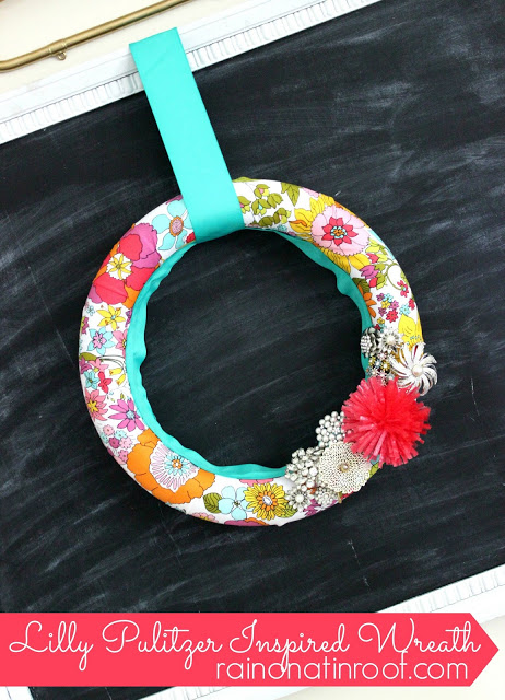 Lilly Pulitzer Wreath