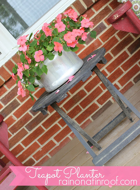 Old Teapot turned into a Flower Pot