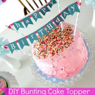 Cake Banner Topper using Scrapbook Paper