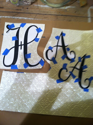 Easy Monogrammed Tray