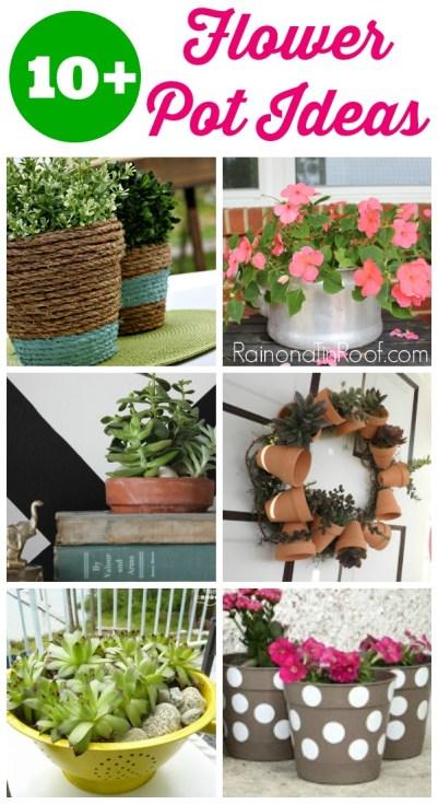 Flower Pot Ideas   Flower Pot Crafts   DIY Flower Pots   Planter Ideas   DIY Planter Ideas   DIY Planter Pots