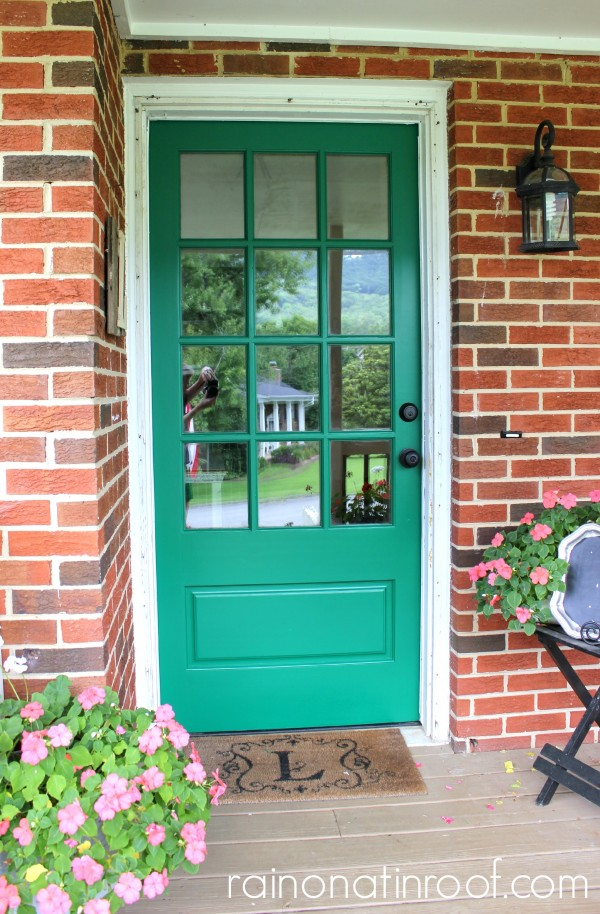 13 Ideas for Sprucing-Up Your Front Door and Entry {rainonatinroof.com} #frontdoor #entry #makeover