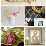 GOLD is back, baby!! Awesome ideas here - mostly easy DIYs that anyone can do! 40+ DIY Gold Projects via RainonaTinRoof.com